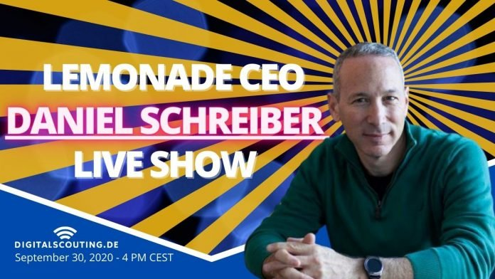 Daniel Schreiber CEO of Lemonate at Digitalscouting Insurance and Finance Live