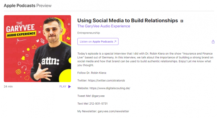 Using Social Media to Build Relationships - The GaryVee Audio Experience